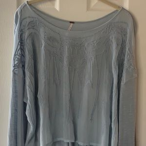 Free People Embroidered Blouse XS